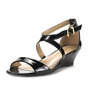 Black New Padded Cushion Pretty Buckle Strap Sexy Womens Sandals Size 8.5