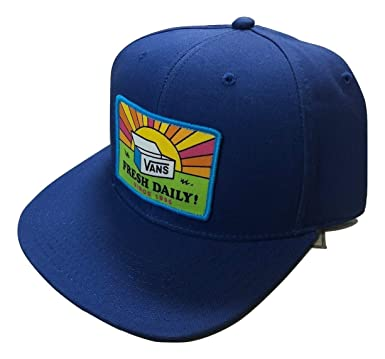 Vans Men s Fresh Day-B Snapback Hat Blue One-Size VN0A3DL27WM at Amazon  Men s Clothing store  4ba7fe4e533