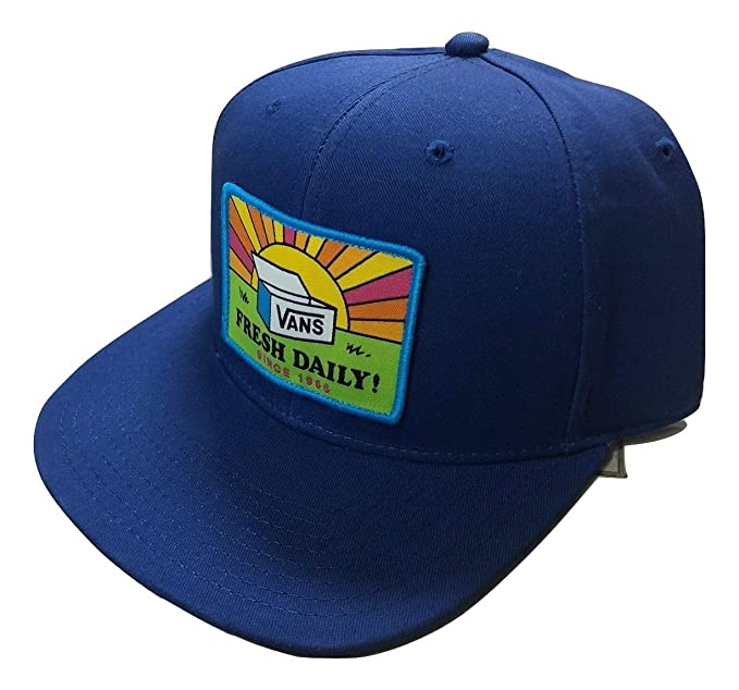 Vans Men s Fresh Day-B Snapback Hat Blue One-Size VN0A3DL27WM at ... df8739edf53