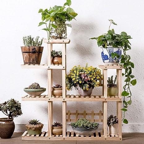 Estantes para Flores Plantas para Jardín Anticorrosión Madera Maciza Estante para Macetas para Flores Caída Al Suelo Múltiples Capas Estante para Macetas para Flores Sala de Estar Balcón Regalo Ideal: Amazon.es: Deportes