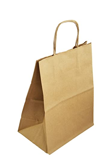 Amazon.com: Papel Kraft bolsas de regalo medianas, 8 x 5 x ...