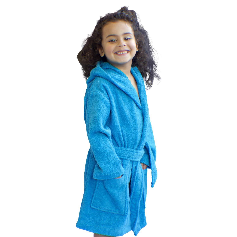 Boys Made in Turkey 100/% Organic Turkish Cotton Bagno Milano Kids Girls Robe Unisex Hooded Bathrobe