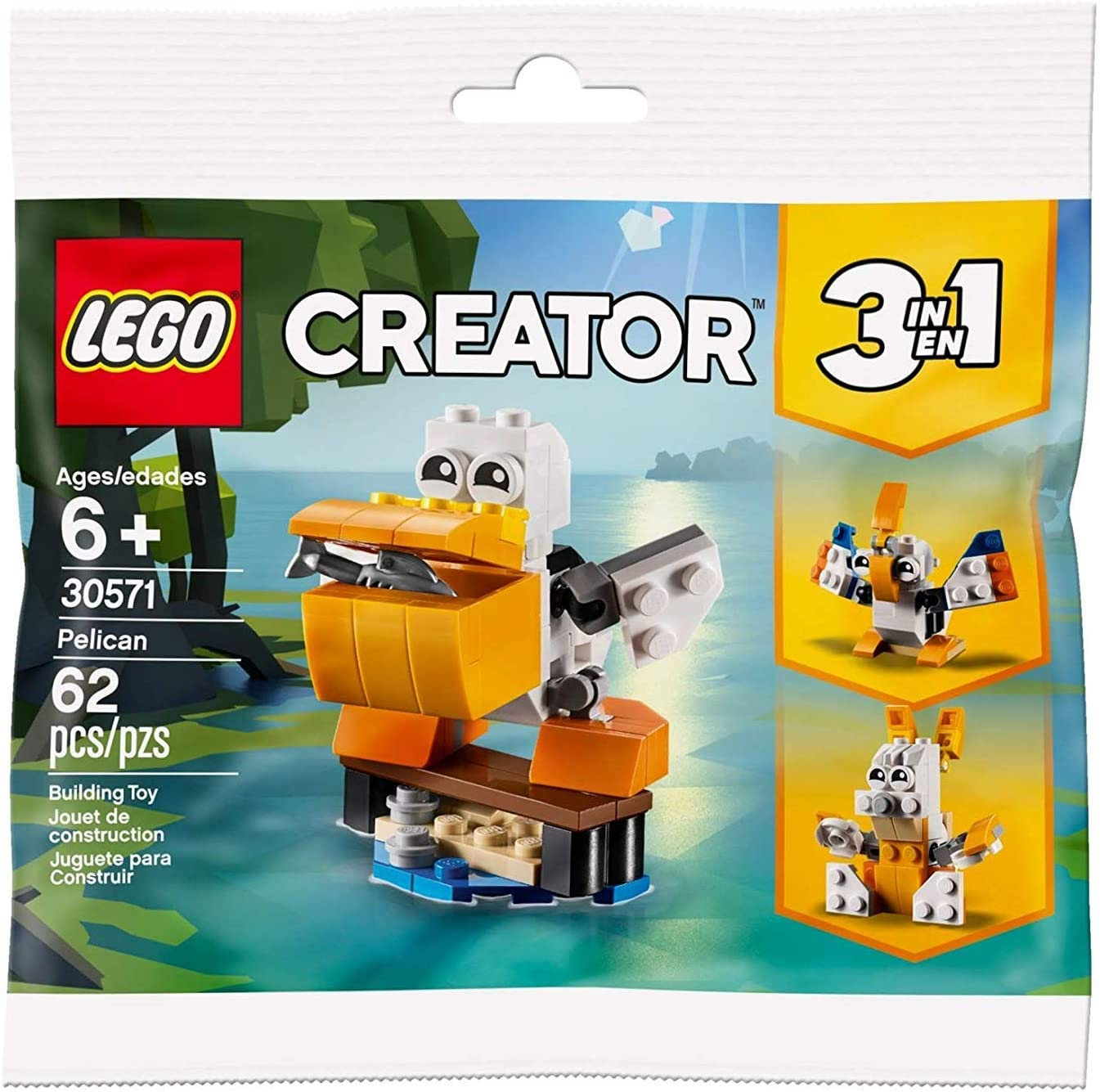 Lego Creator Polybag 30571 Pelican 62pcs New Sealed 2019