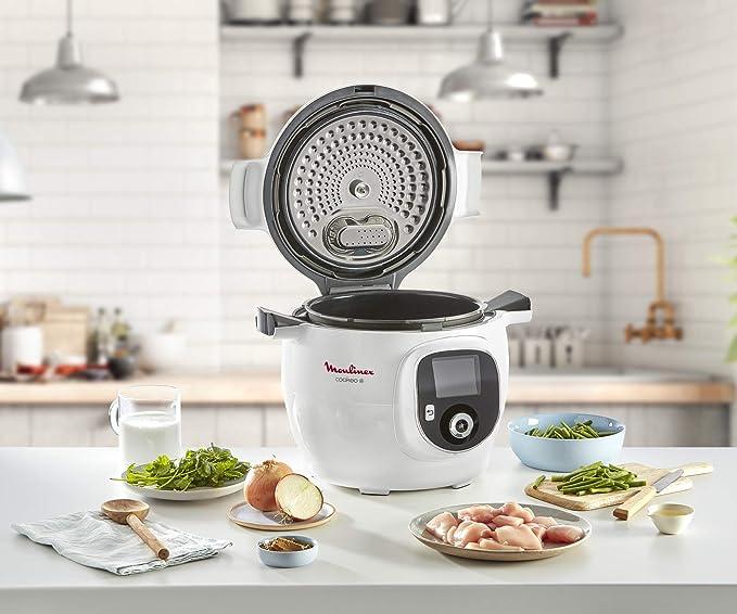 Moulinex Olla multicocción inteligente de alta presión, 6 litros, 150 recetas, 6 modos de cocción, guía paso a paso, uso fácil y rápido 150 recetas, rojo rojo: Amazon.es: Hogar
