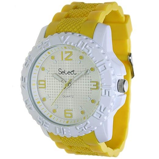 Select Fr-25-4 Reloj Analogico para Hombre Caja De Metal Esfera Color Plateado: Amazon.es: Relojes