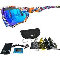 KAPVOE Hot TR90 Fietsen Zonnebril Lichtgewicht MTB Gepolariseerde Sport Fiets Bril UV 400 Bescherming voor Mannen…