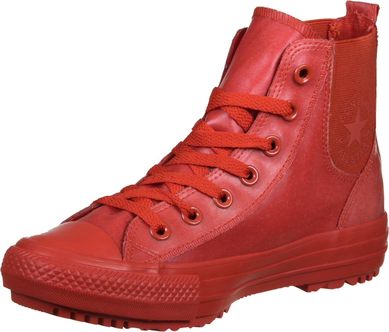 bfa3459665f Galleon - Converse Chuck Taylor All Star Chelsea Boot Rubber Hi Signal Red Signal  Red (Womens) (7 B(M) US)