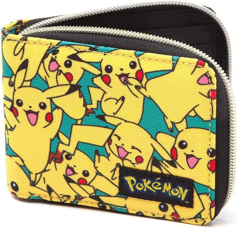 12 cm Jaune Bioworld POKEMON All-over Pikachu Zip Wallet Porte-monnaie Yellow