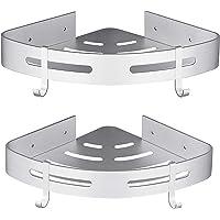 Hoomtaook doucheplank zonder boren badkamerplank badkamerplank aluminium zelfklevend lijm mat afwerking badkamerplank 2…