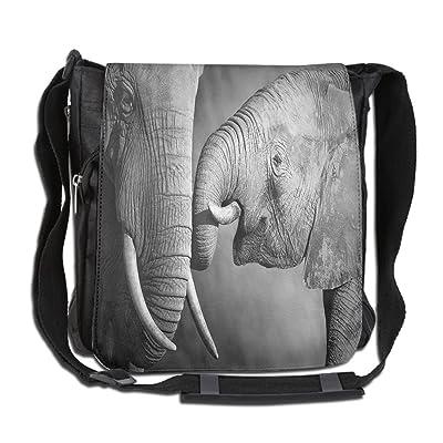 Lovebbag Elephants Showing Affection Artistic Wildlife African Spiritual  Animals Safari Art Crossbody Messenger Bag 3aa75395bce14