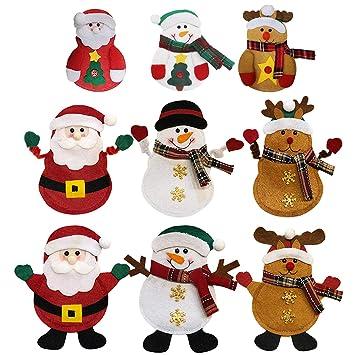 Natale Cucina Posate, 9 Pcs Natale Coltello Forchetta Cucchiaio ...