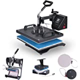 VEVOR Heat Presses 12 X 15 Inch 5 in 1 Digital Multifunctional Sublimation T Shirt Heat Press Machine 1250W 360 Degree Rotation Heat Press Machine for T shirts Hat Mug Cap Plate (12 X 15 Inch 5 in 1)