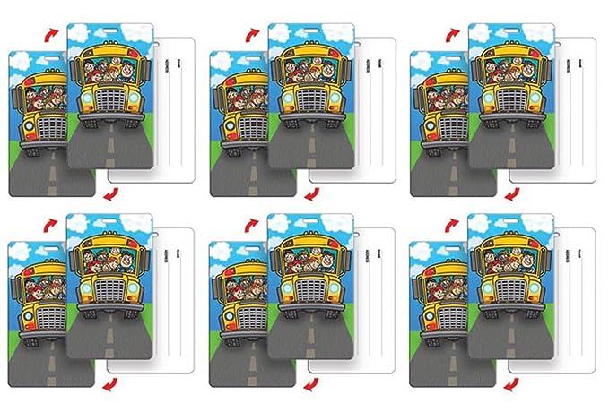 6af059254501 SETOF6 Lenticular Luggage Tag Plastic Loop Flips Between Children on ...