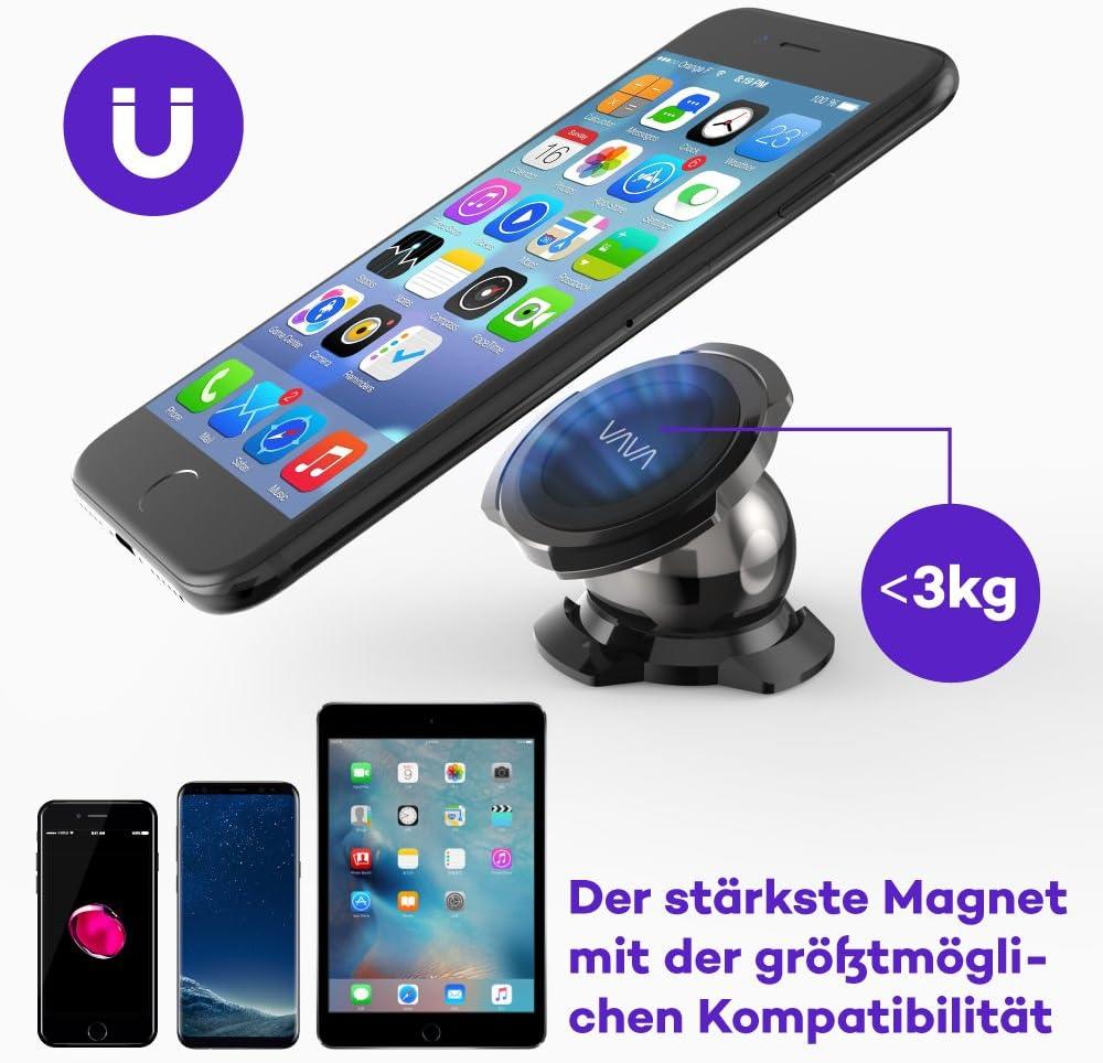Vava Magnetische Handyhalterung Kfz Handyhalter Fürs Armaturenbrett Auto Magnet 360 Grad Drehbar Universelle Smartphone Handyhalter Für Iphone 11 Pro Xs Xr X 8 7 Samsung Galaxy Huawei Gps Gerät Usw Navigation