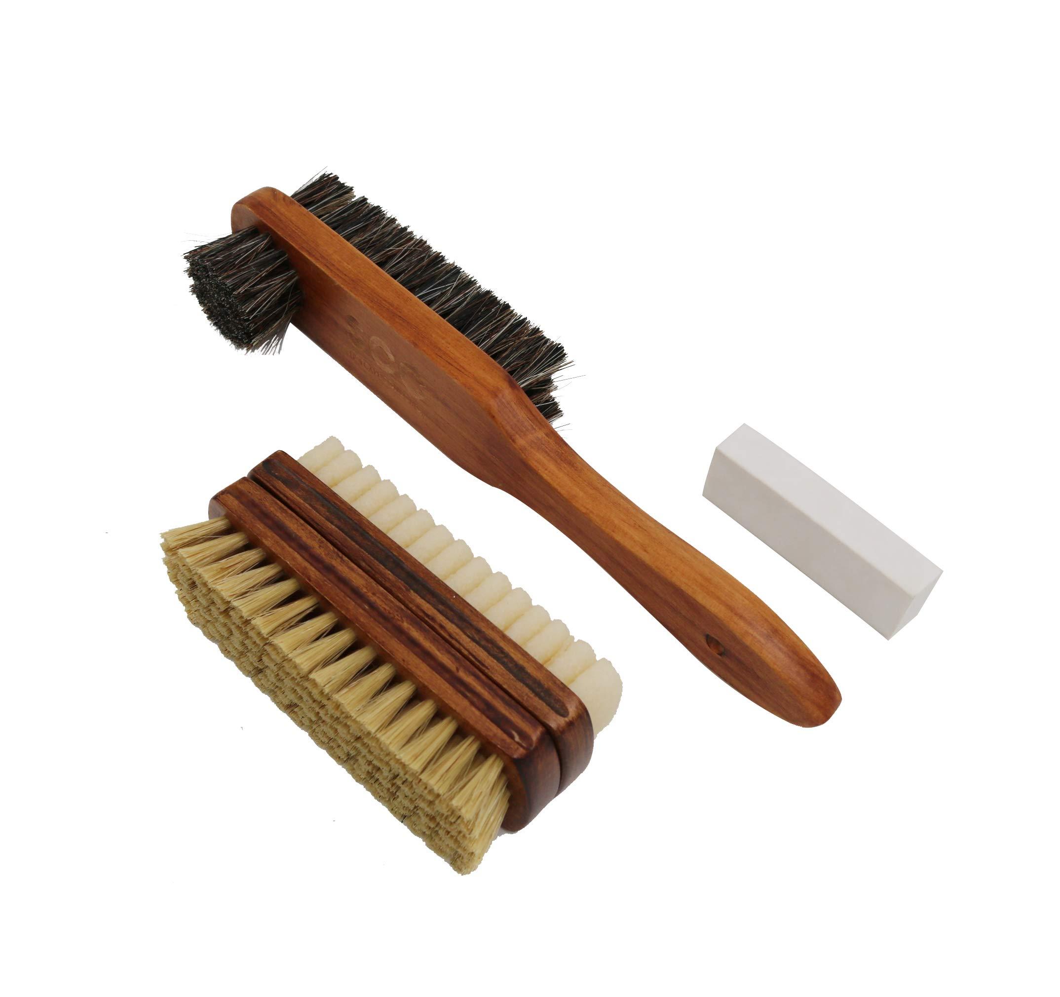 Kit de cepillo para zapatos con cepillo de zapato de doble c