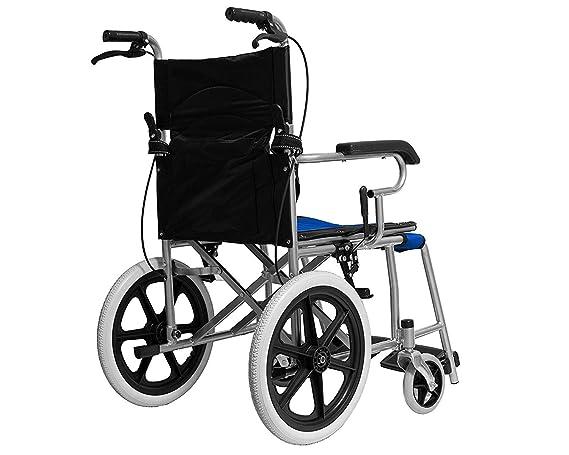Silla de ruedas para discapacitados, con empuje asistido y palanca de freno: Amazon.es: Belleza