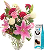 Oriental Charm Bouquet & FREE Chocolates and FREE NEXT DAY UK Delivery - Beautiful Fresh Flowers for Birthdays, Anniversaries and Special Occasions