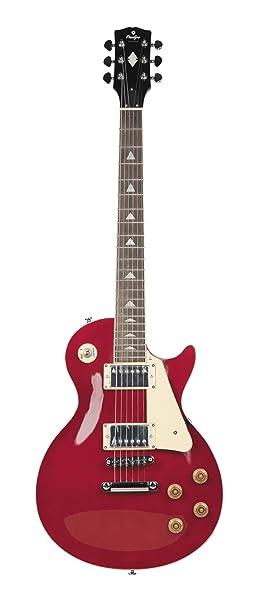 Guitarra eléctrica Prodipe de cuerpo sólido de 6 cuerdas (LP 300 WR rojo vino)