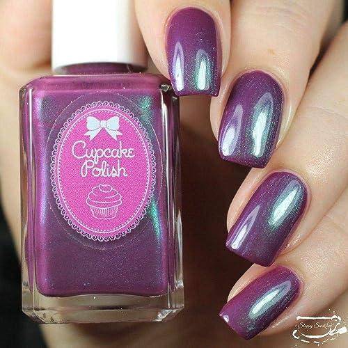 Amazon.com: All Tide Up - mauve dark pink multichrome nail polish by ...