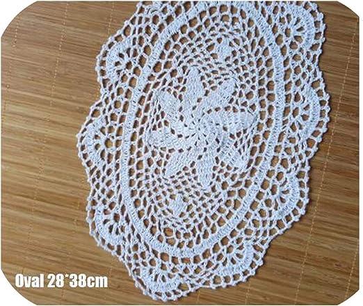 Amazon Com 11 15 Lace Cotton Table Place Mat Cloth Crochet