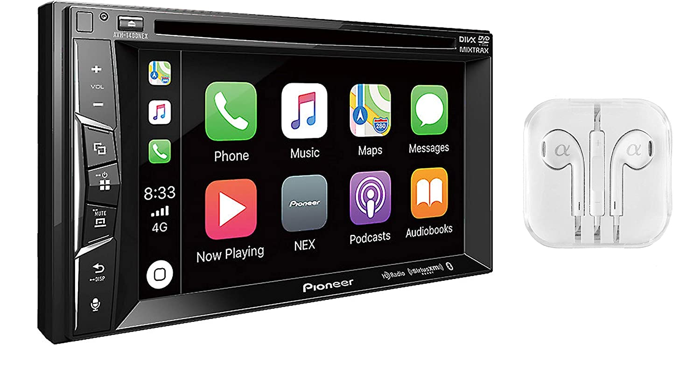 "Amazon.com: Pioneer AVH-1300NEX Multimedia DVD Receiver with 6.2"" WVGA  Display/Apple CarPlay/Built-in Bluetooth/SiriusXM-Ready/AppRadio Mode +: Car  ..."