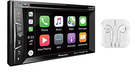 "Pioneer Multimedia Double-Din In-Dash 6.2"" WVGA Display DVD Receiver Apple CarPlay/Built-in Bluetooth/SiriusXM-Ready/AppRadio Mode/ Spotify & Pandora WITH FREE ALPHASONIK EARBUDS"