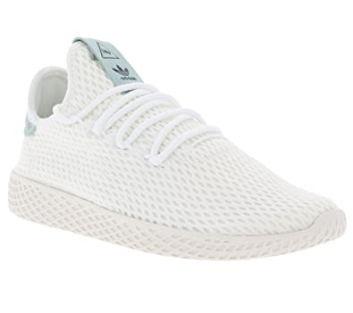 0ed9b545b21e adidas Originals Pharrell Williams Tennis Hu White Green Textile 7 M US Big  Kid