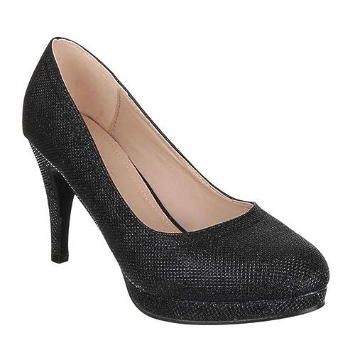 quality design d67ff ebcfc Damen Big Size Glitzer Pumps Übergröße Stilettos High Heels ...