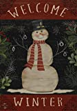 "Briarwood Lane Welcome Winter Snowman Garden Flag Primitive Seasonal 12.5"" x 18"""
