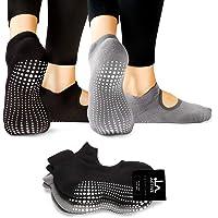 LA Active Calcetines Antideslizantes - para Yoga Pilates