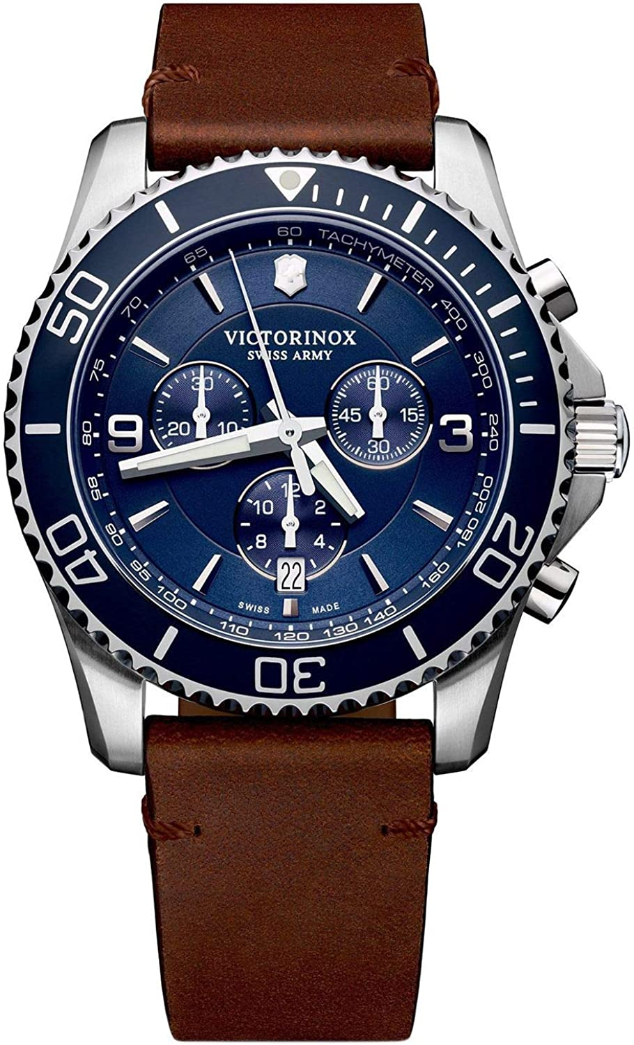 Victorinox Maverick Chronograph Quartz Blue Dial Men's Watch 241865