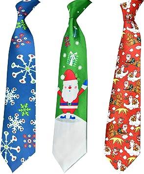 HOWAF 3pcs Corbata navideña para Adultos Hombres, Corbatas de ...