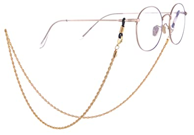 f77c94f9bfa4 LIKGREAT Eye Glasses Chain Strings Spectacles Holder for Women Fashion  Accessories (Gold