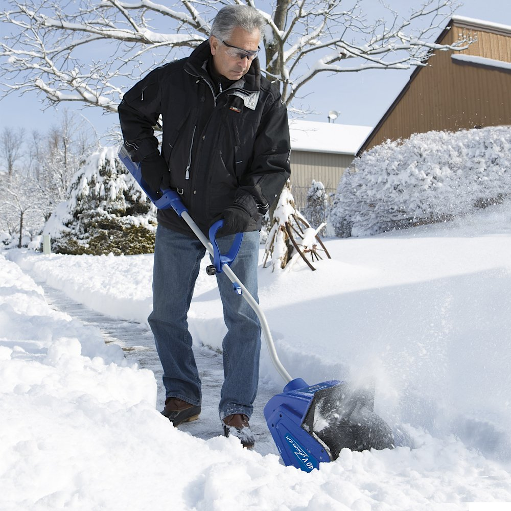 Cordless Snow Shovel with Rechargeable Lithium-ion Battery
