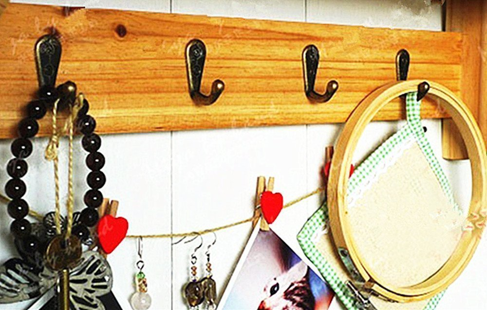 20 colgadores de gancho de pared de bronce vintage para toalla de cocina gancho peque/ño tama/ño peque/ño