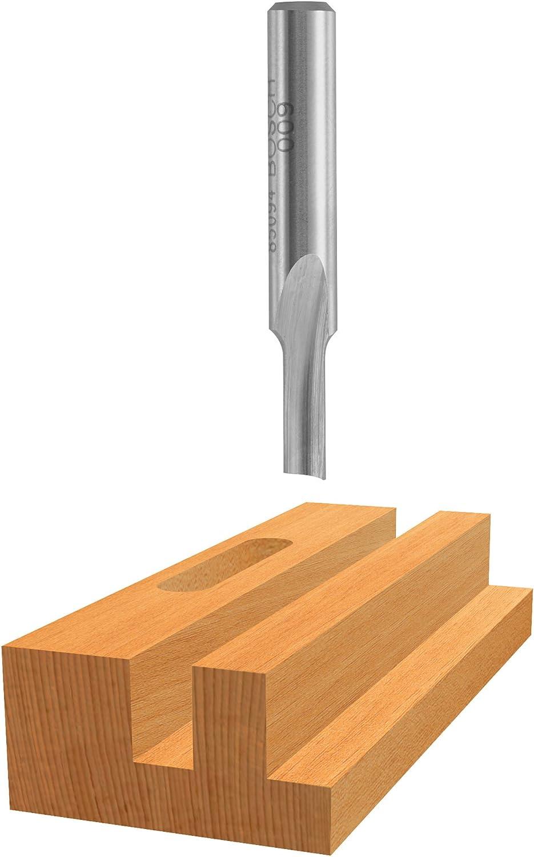 Bosch 85154 High Speed Steel Single Flute Straight Bit 1//4-Inch