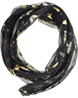 Unisex Gold Foil Music Note / Instrument Print Scarf - Light Weight & High Quality Fabric, Perfect Group Musical Scarves Wrap - 2 Styles & Many Colours - 100% QUALITY GUARANTEE