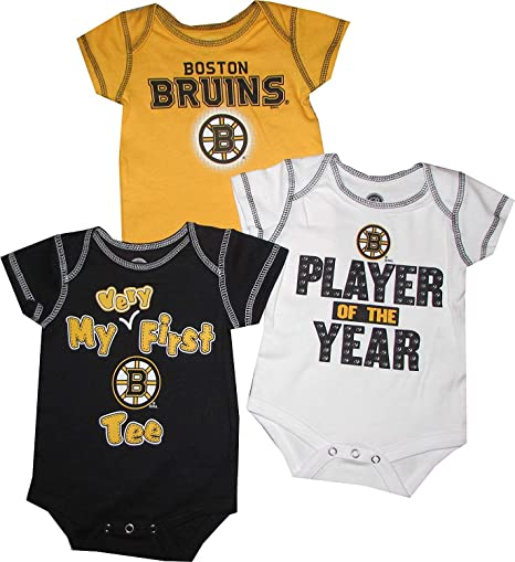 b57b031e4 Outerstuff Boston Bruins Newborn Infants Player of The Year Bodysuit Set  (0/3 Months