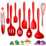 Cooking Utensils Set Silicone Kitchen, 10 Pieces for a Set, Non-stick Heat Resistant Cooking Tools Silicone Handle…