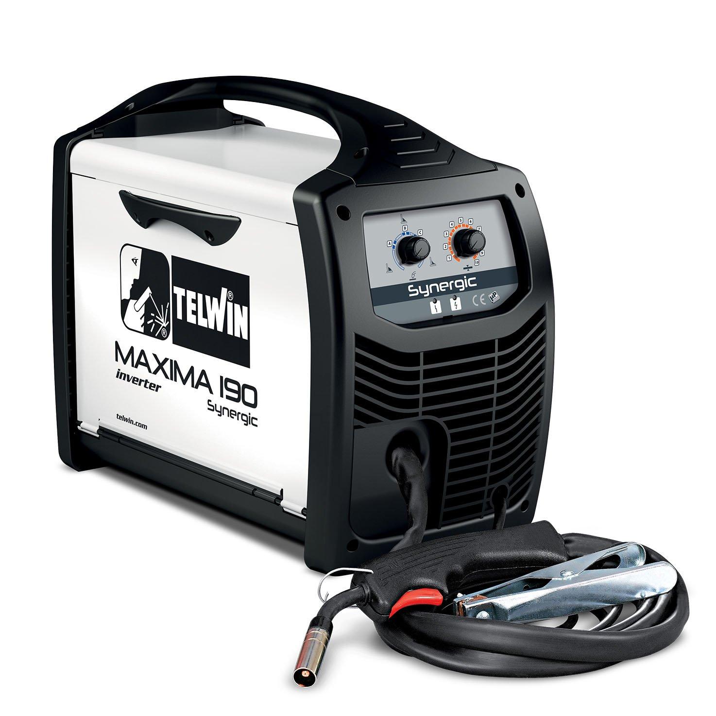 Telwin Maxima 190 Synergic Poste de Soudage Inverter /à Fil pour Soudage Mig-Mag//Flux//Brazing