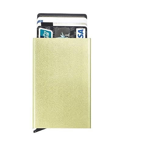 TRIWONDER Portatarjetas de la tarjeta de crédito del bloqueo del RFID - Tenedor de la tarjeta