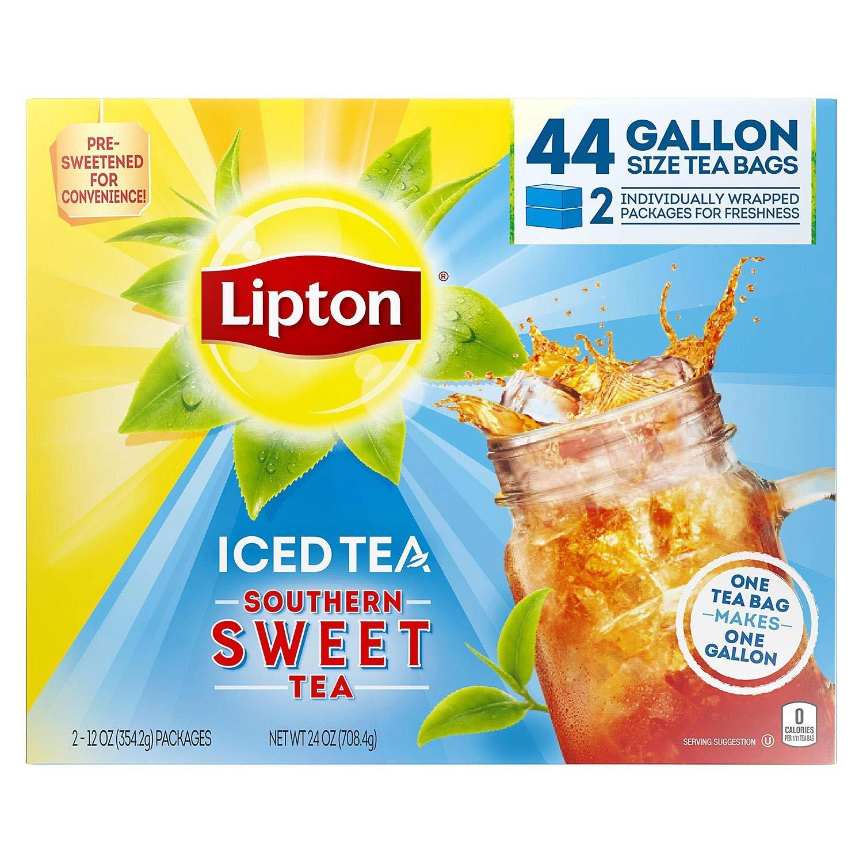 Lipton Southern Sweet Tea, Gallon-Size Tea Bags (44 Tea Bags) by Lipton
