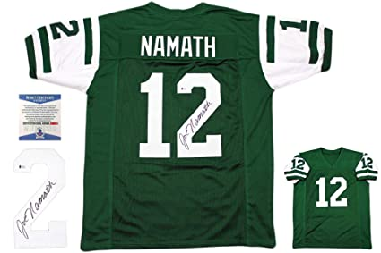 promo code 444ad 83a2b Joe Namath Autographed Signed Jersey - Beckett Authentic ...