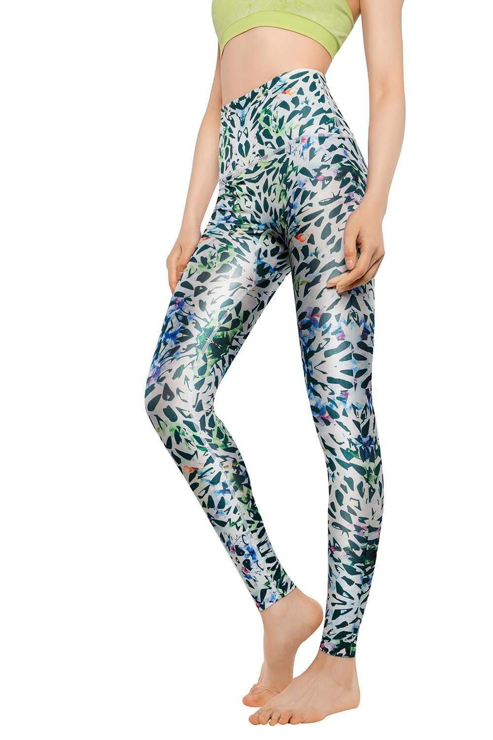 High Waist Colorful Athletic Pants for Workout +MD Womens Tummy Control Yoga Leggings with Hidden Pocket Running