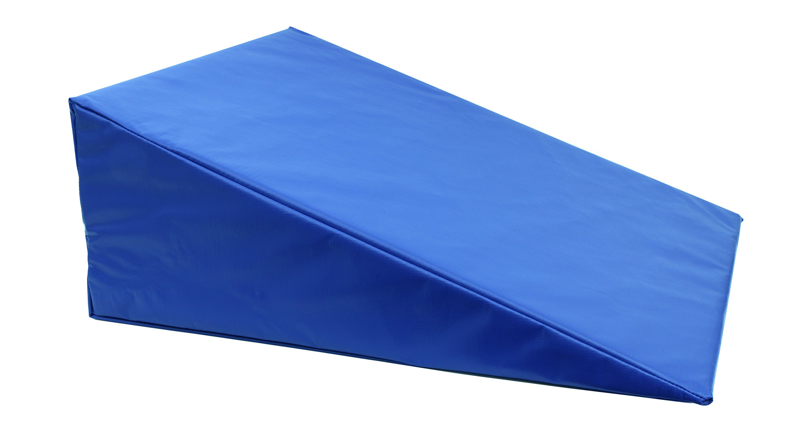 CanDo 31-2005S Positioning Wedge, Foam with Vinyl Cover, Soft, 24'' x 28'' x 10'', Royal Blue by Cando