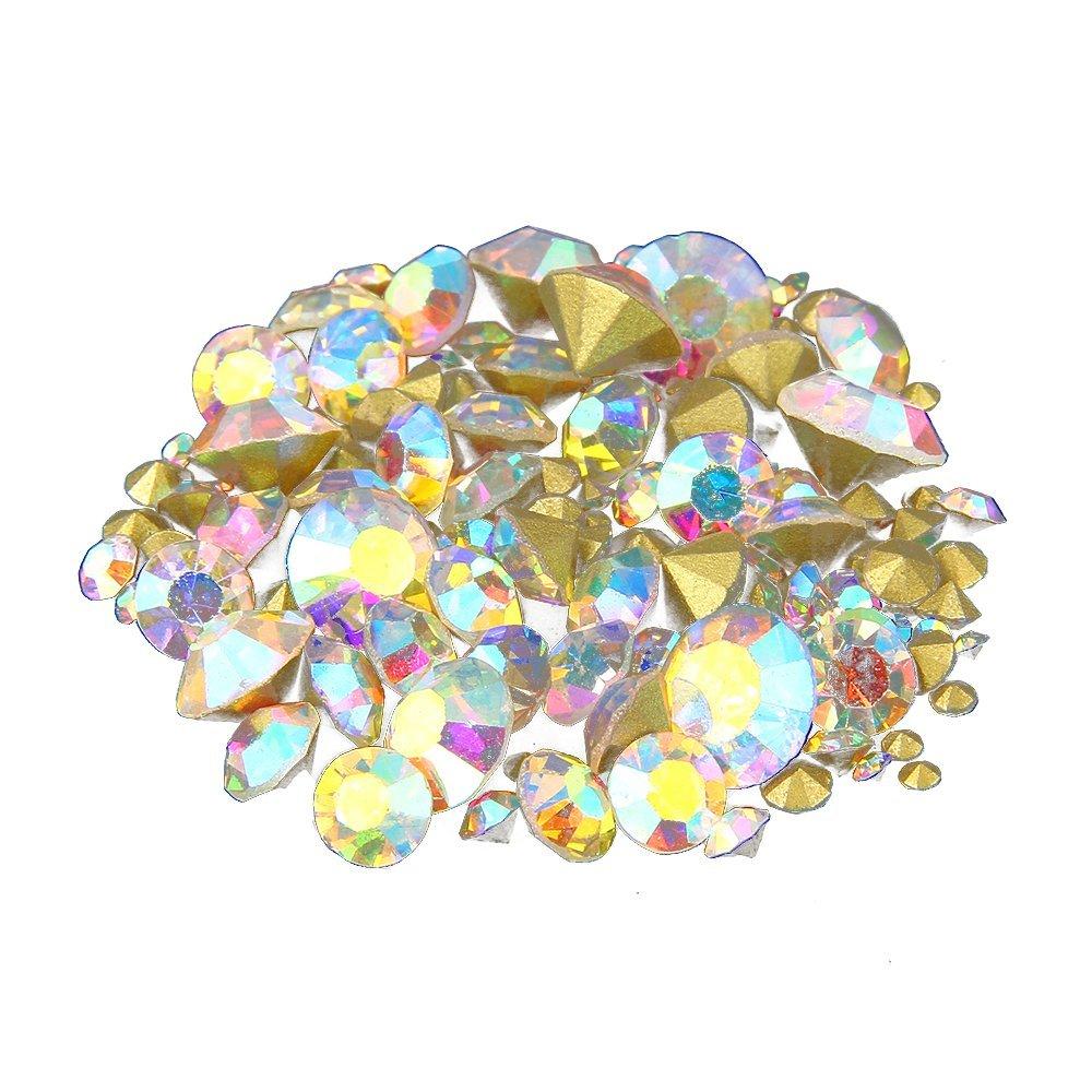 (ss2 1.2mm 1440pcs) - Nizi Jewellery Nail Rhinestones Crystal AB Colour Nail Art Strass Pointed Stone Diy Craft Tiny Rhinestone Perfect for Nail Art Decorations ss2 1.2mm 1440pcs ss2 1.2mm 1440pcs  B0731H57XJ