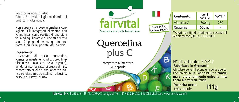 Quercetina cápsulas 500mg - VEGANO - Altamente dosificado ...