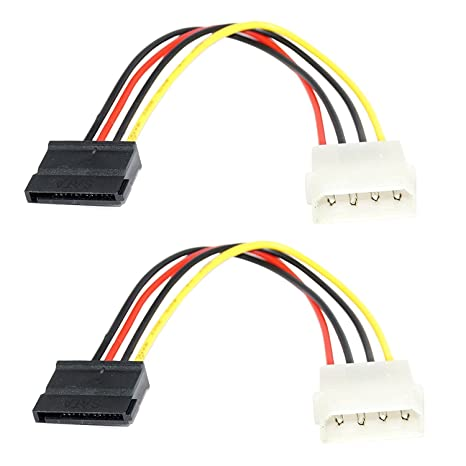 """7 SATA Cables Inch 4 Pin Molex To Power Adapter Pack Of 20 Computers /"""""""