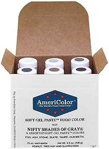 AmeriColor Food Coloring, Nifty Shades Of Gray Kit