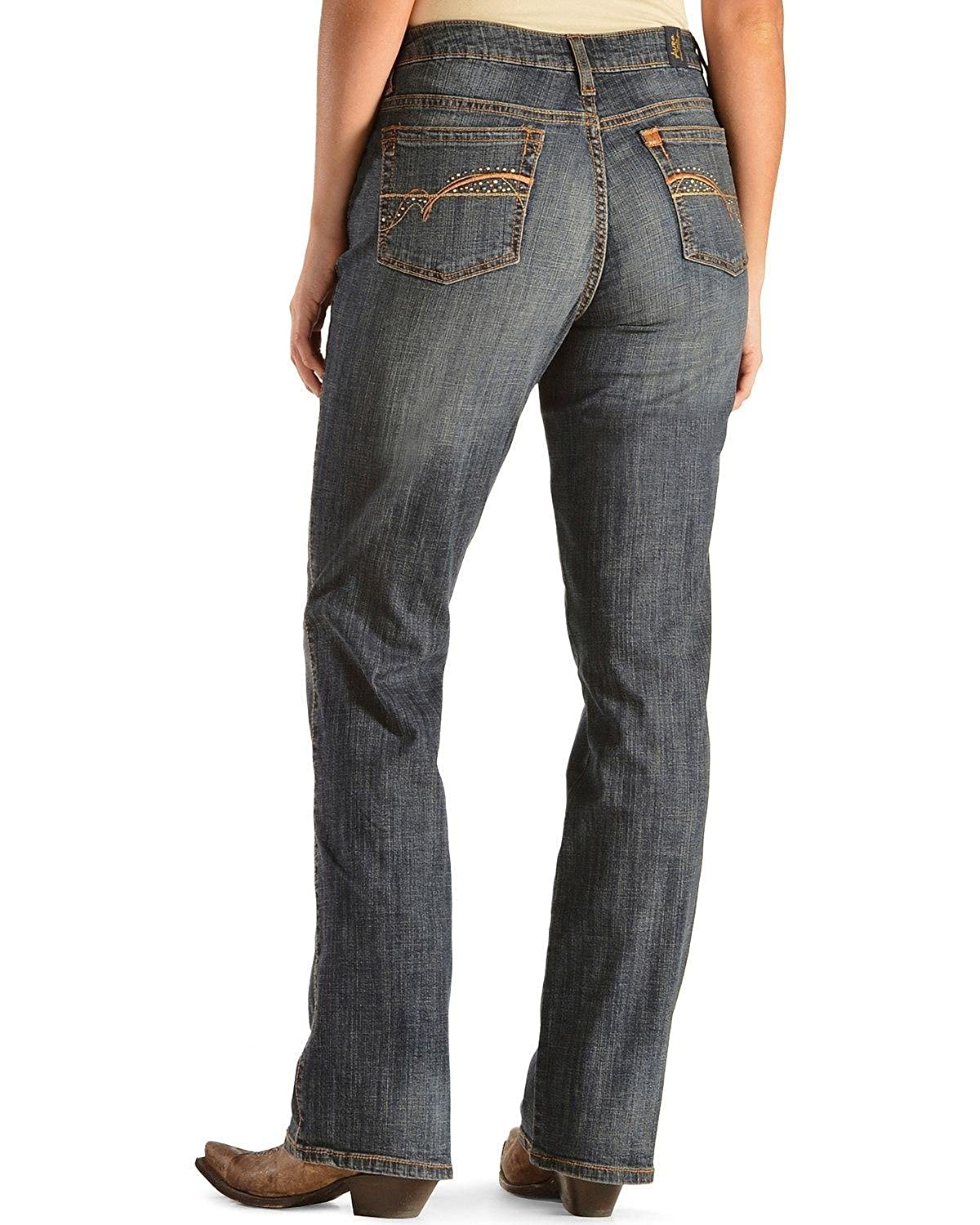 bfb5b43bb20 Amazon.com  Wrangler Women s Aura Instantly Slimming Jean  Clothing